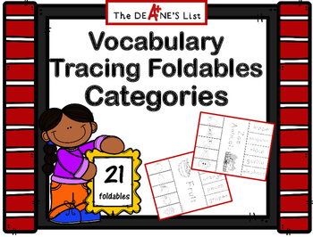 ABLLS-R ALIGNED ACTIVITIES Vocabulary Tracing Foldables: Categories
