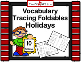 ABLLS-R ALIGNED ACTIVITIES Vocabulary Tracing Foldables: Holidays