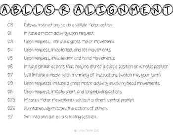 ABLLS-R  ALIGNED ACTIVITIES Yoga Fun