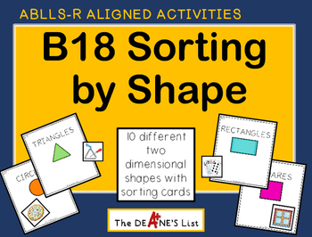 ABLLS-R ALIGNED B18 Sorting by Shape