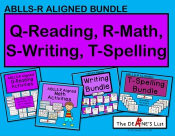ABLLS-R ALIGNED BUNDLE: Q-Reading, R-Math, S-Writing, T-Spelling