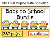 ABLLS-R ALIGNED MATH ACTIVITIES Back to School Bundle
