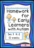 ABLLS-R ALIGNED ACTIVITIES Homework for Early Learners wit
