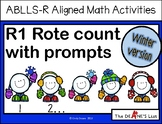 ABLLS-R ALIGNED MATH ACTIVITIES R1 Rote count with prompts- Winter Edition