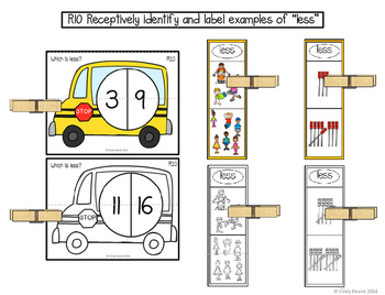 "ABLLS-R ALIGNED MATH ACTIVITIES R10 Identify and label ""less"""
