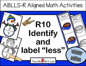 "ABLLS-R ALIGNED MATH ACTIVITIES R10 Identify & label ""less""- Winter edition"