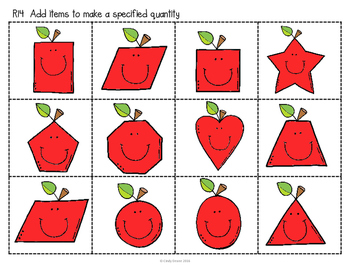 ABLLS-R ALIGNED MATH ACTIVITIES R14 Add items to a specified quantity