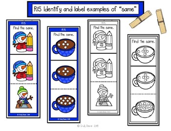 """ABLLS-R ALIGNED MATH ACTIVITIES R15 Identify and label """"same""""- Winter edition"""