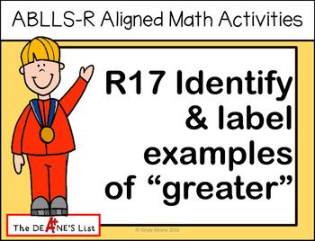 ABLLS-R ALIGNED MATH ACTIVITIES R17 Identify & label exa