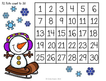 ABLLS-R ALIGNED MATH ACTIVITIES R2 Rote counting- Winter Edition