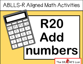 ABLLS-R ALIGNED MATH ACTIVITIES R20 Add numbers