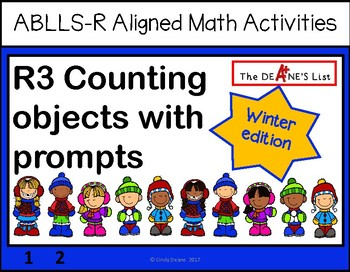ABLLS-R ALIGNED MATH ACTIVITIES R3 Counting objects with prompts- Winter Edition