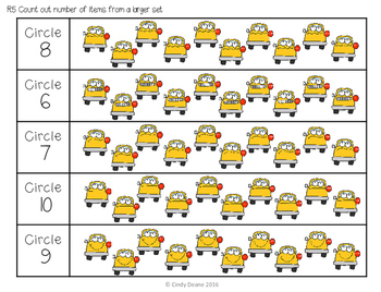 ABLLS-R ALIGNED MATH ACTIVITIES R5 Count out objects from a larger set