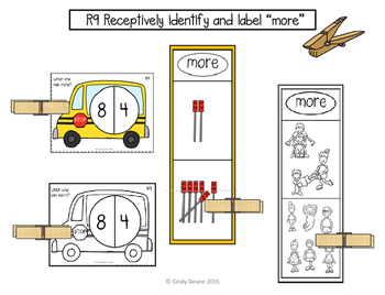 "ABLLS-R ALIGNED MATH ACTIVITIES R9 Identify and label ""more"""