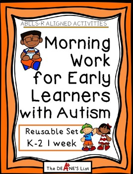 ABLLS-R ALIGNED Morning Work for Early Learners with Autism-Reusable