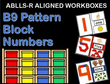 ABLLS-R ALIGNED WORKBOXES B9 Pattern block numbers
