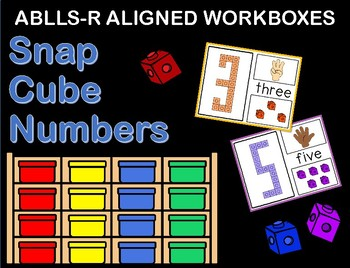 ABLLS-R ALIGNED WORKBOXES Number snap cubes