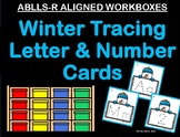 ABLLS-R ALIGNED WORKBOXES Winter tracing letter & number cards