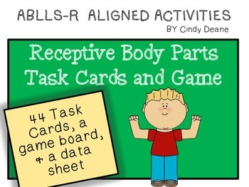 ABLLS-R ALIGNED ACTIVITIES Receptive Body Parts Task Cards