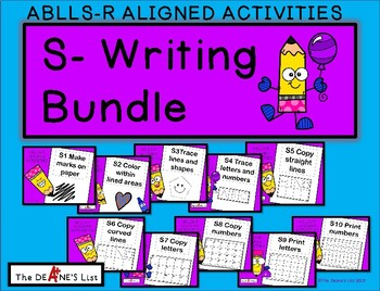 ABLLS-R ALIGNED ACTIVITIES  S-Writing