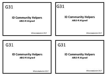 ABLLS-R Aligned G31 ID Community Helpers (Jobs)