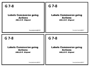 ABLLS-R Aligned- Label on going/common actions