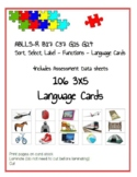 ABLLS-R ALIGNED FUNCTIONS B17 C37 G15 G24 ABA Language Cards