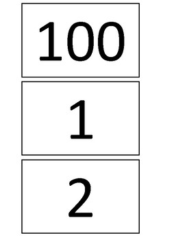 ABLLS-R Aligned R7- Names Numbers (  contains numbers in blue to count by 10