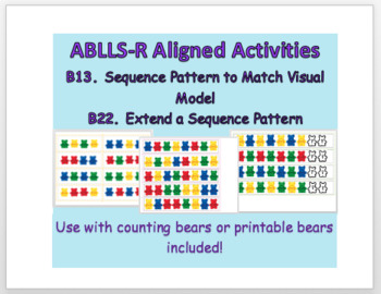 ABLLS-R B13 B22 Aligned Pattern Cards
