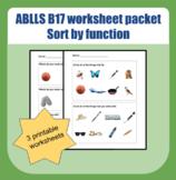 ABLLS-R B17 worksheet packet