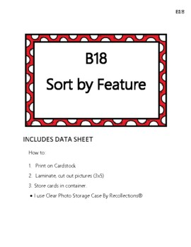 Sort by Feature Language Cards ABLLS-R B18