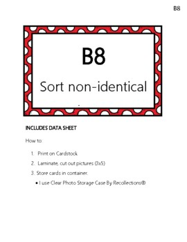 ABLLS-R B8 Sort Non-identical Pictures Module Cards