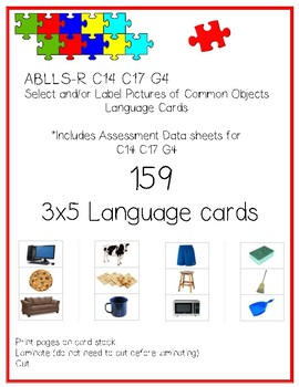 Pictures of Common Objects Language Cards ABLLS-R C14, C17, G4