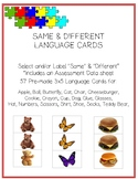 Same and Different Language Cards ABLLS-R C55