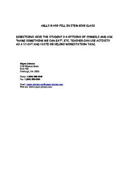 ABLLS-R FFC TARGET WORKSHEET