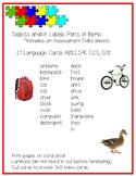 FREE Parts of items Language CARDS ABLLS-R C23 G12
