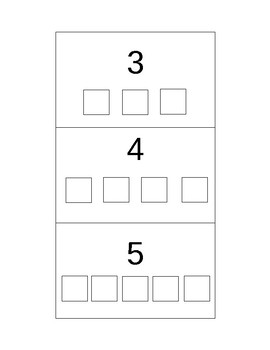 Match Objects to Numbers ABLLS-R R8
