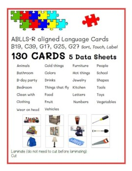 Class Category Language Cards ABLLS-R B19, C39, G17, G25, G27