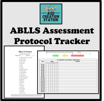 ABLLS-R assessment tracker sheets