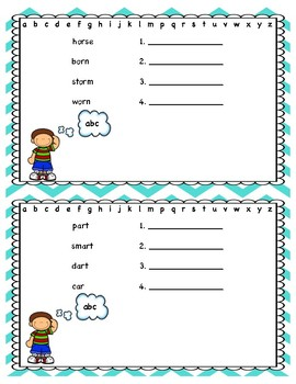 ABO Order Phonics and Sight Words
