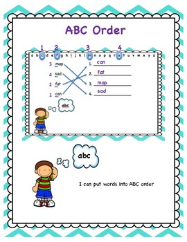 ABC Order Phonics Center Cards