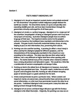AUSTRALIAN ABORIGINAL ART: CULTURAL ART FOR ALL SEASONS