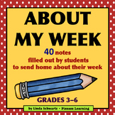 ABOUT MY WEEK • Grades 3–6