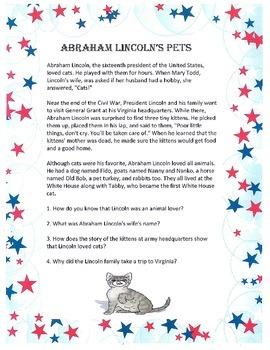 ABRAHAM LINCOLN President US History CCSS ELA Social Science Teaching Study Unit