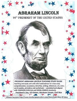 ABRAHAM LINCOLN President's Day  Teaching Study Unit FREE