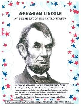 ABRAHAM LINCOLN President's Day  Teaching Study Unit FREE