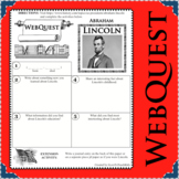 ABRAHAM LINCOLN WebQuest Research Project Biography Notes Graphic Organizer