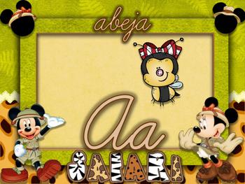 ABc mickey safari cursivo