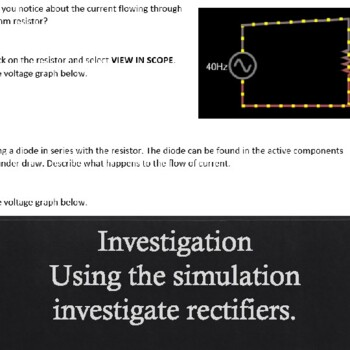 AC Circuits Rectifier (Simulation/Investigation)
