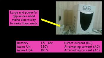 AC DC electrical energy - transferring electrical energy